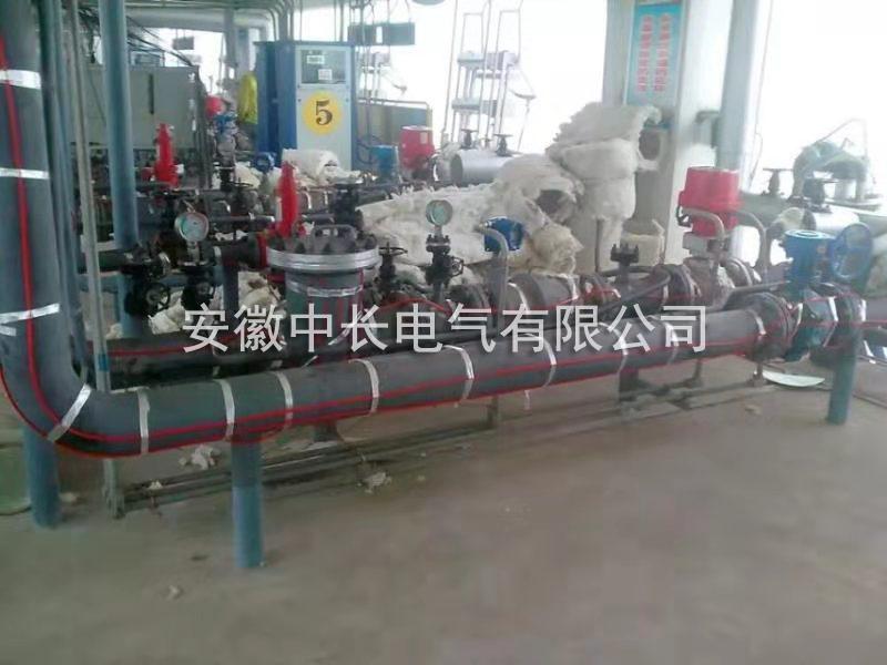 泊里中石油装油平台输油管道电伴热保温